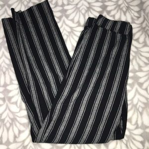 BRANDY MELVILLE Black & Grey Striped Pants OS